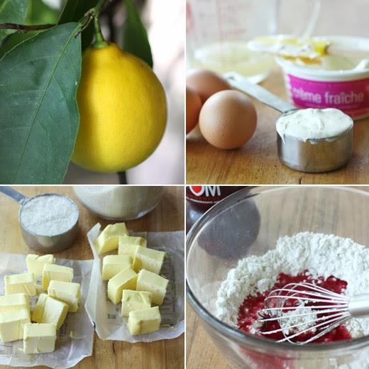 Meyer Lemon Tea Cakes With Pomegranate Glaze