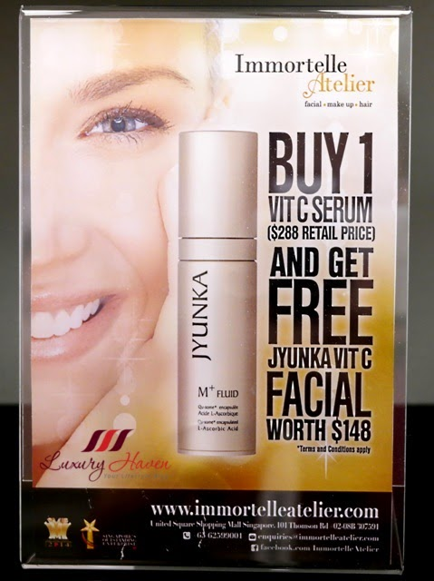 immortelle atelier jyunka vitamin c serum promotion