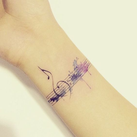 Music Tattoos For Girls