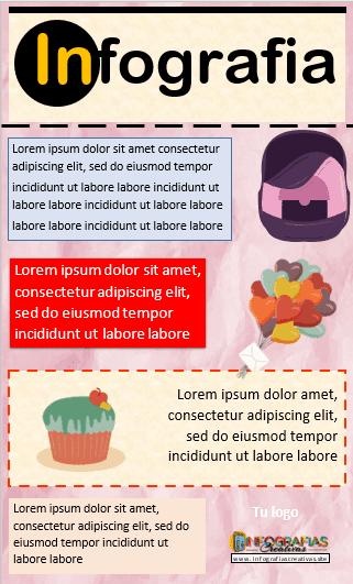 Plantilla para Infografia editable en Word modelo 02