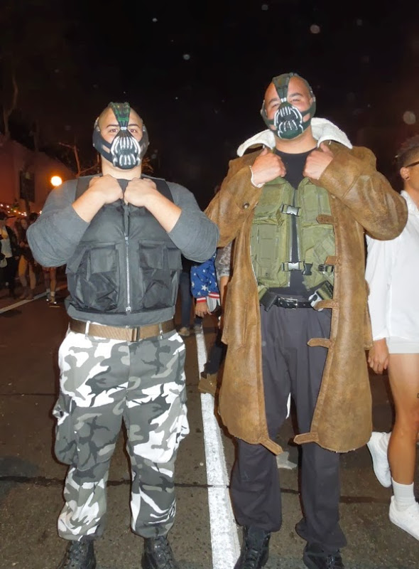 Bane costumes West Hollywood Halloween Carnaval