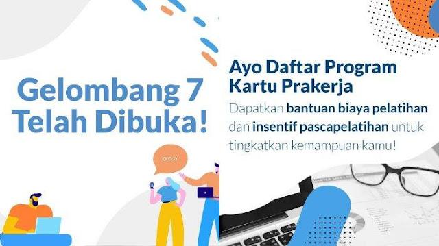 Cara Daftar Kartu Prakerja Gelombang 7, Login www.prakerja.go.id, Berikut Syaratnya