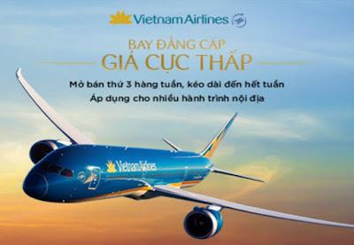 Vé máy bay đi Hà Nội khuyến mãi Vietnam Airlines thứ 3 ngày 16/8/2016