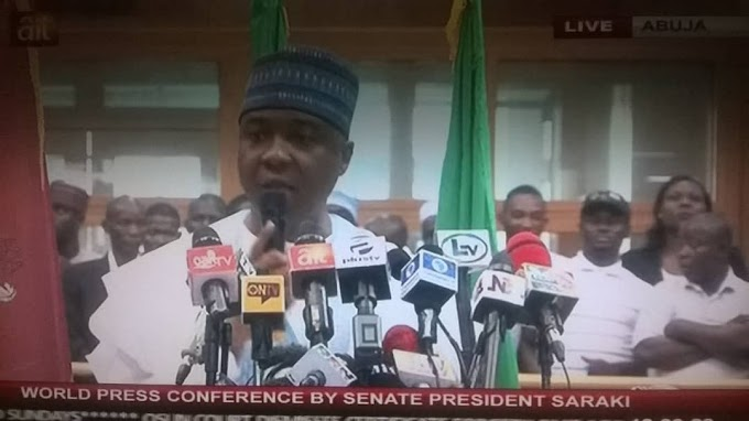 STATEMENT BY THE PRESIDENT OF THE SENATE, HIS EXCELLENCY (DR.) ABUBAKAR BUKOLA SARAKI, CON, AT A WORLD PRESS CONFERENCE HELD AT THE NATIONAL ASSEMBLY COMPLEX ON WEDNESDAY, AUGUST 8, 2018.