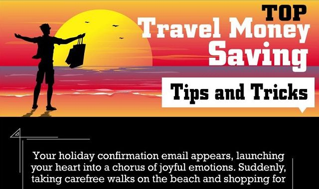 Image:  Top Travel Money Saving Tips and Tricks #infographic