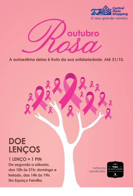 Central Plaza Shopping promove campanha em apoio ao Outubro Rosa