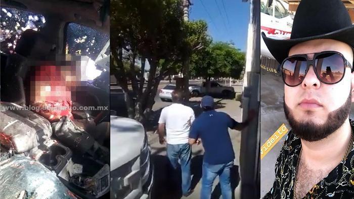 """Video, Captan momento en que acribillaron  Luis """"Ronni"""" Mendoza cantante de Narcocorridos ejecutado en Sonora"""
