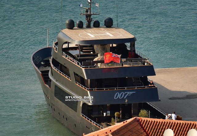 """Στο Ναύπλιο η θαλαμηγός του """"πράκτορα"""" 007 James Bond"""