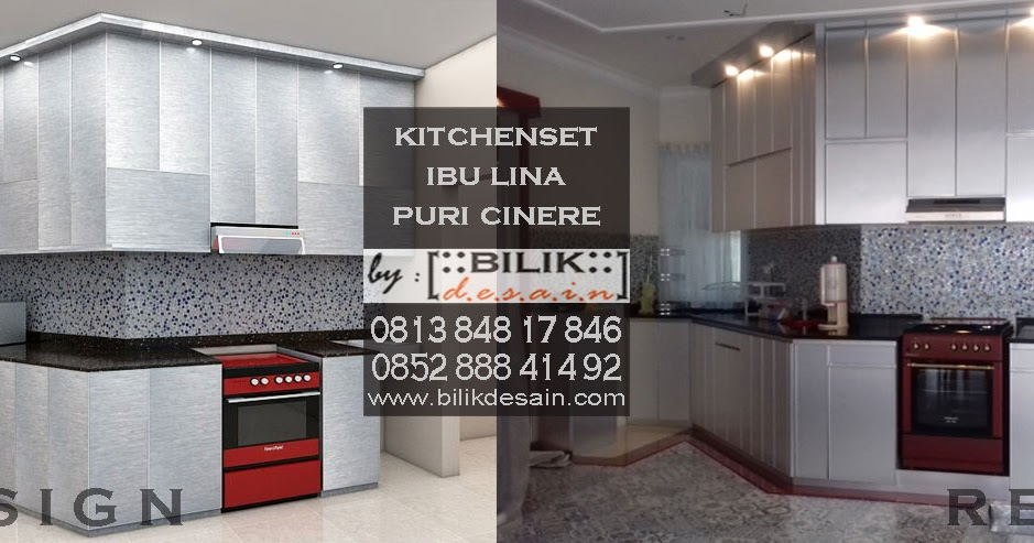 Kitchen Set Modern Ekletik Bernuansa Silver Milik Ibu Lina Di Puri