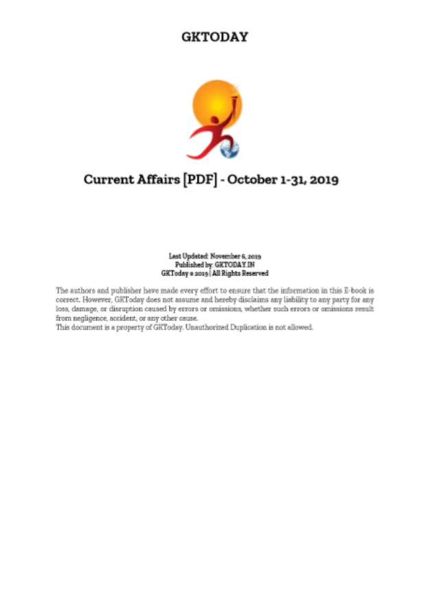 GK-Today-Current-Affairs-October-2019-For-All-Competitive-Exam-PDF-Book
