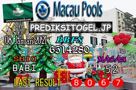 Prediksi Togel Wangsit Macau Pools Jumat 08 Januari 2021