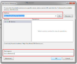 Display records in Gridview from sql server database using WCF service
