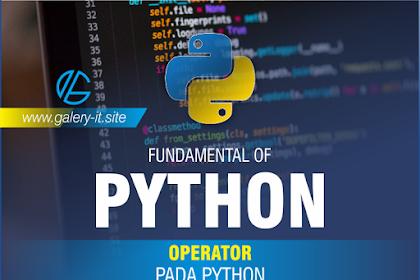Operator Pada Bahasa Pemrograman Python | Belajar Python Dasar