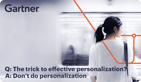 Gartner – Personalization