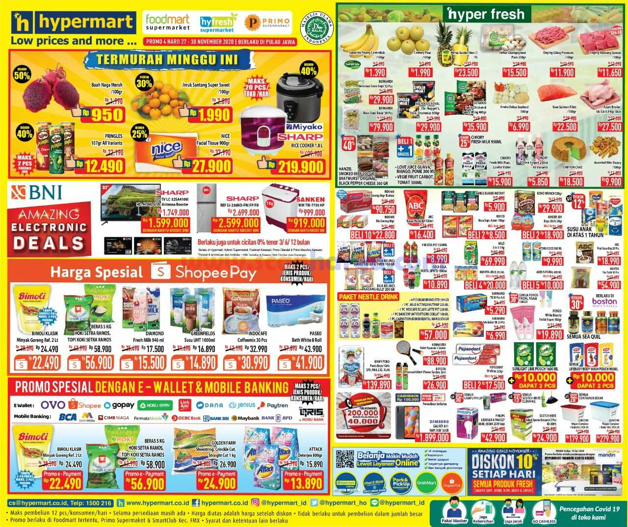 Katalog Promo Hypermart Weekend Terbaru 27 - 30 November 2020
