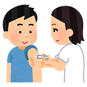 予防注射を受ける人のイラスト