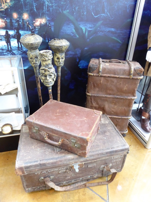 Lost City of Z tribal torch and luggage props