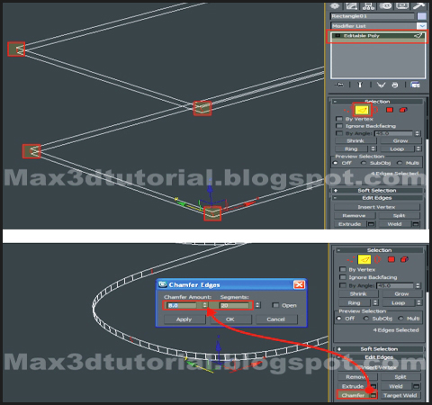 edges chamfer for 3ds max