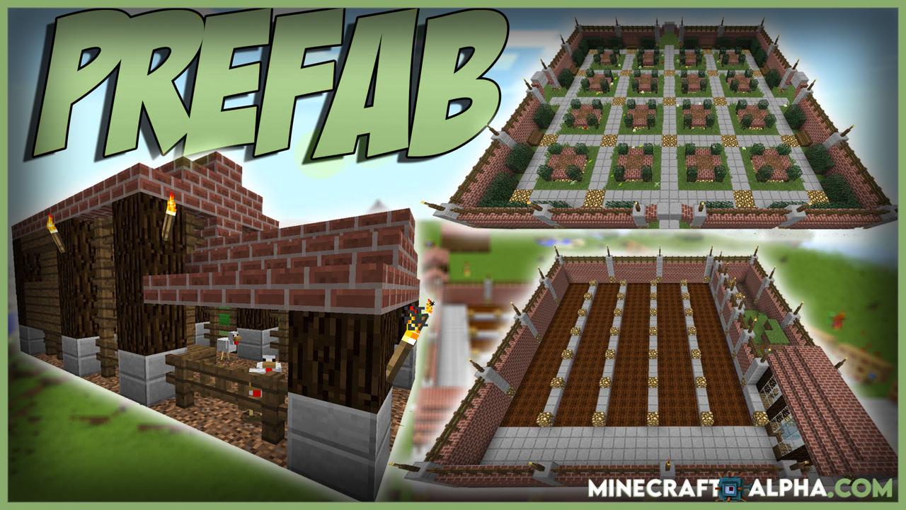 Minecraft Prefab Mod For 1.17.1 To 1.16.5 (One-Click Prefabricated Building)