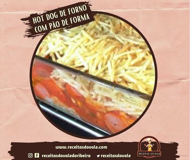Receita de Hot Dog de forno com pão de forma