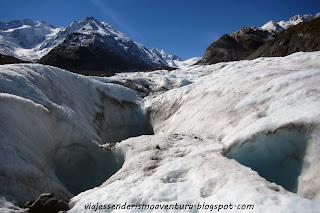 Glaciar Tasman y algunas de sus infinitas grietas