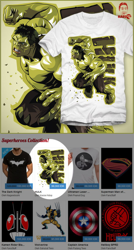Superheros Tees.co.id