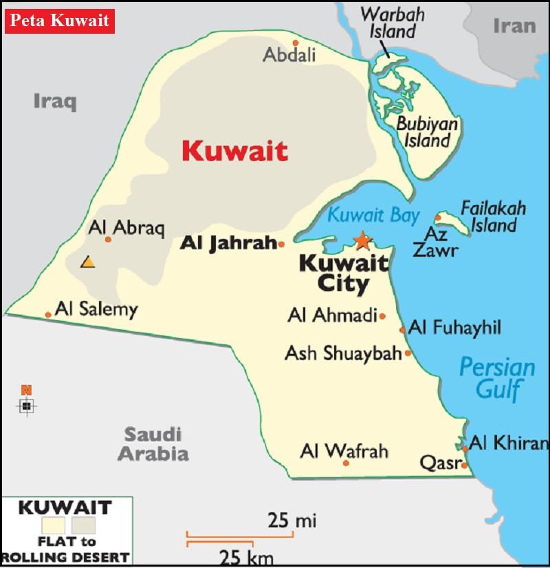 Peta Negara Kuwait