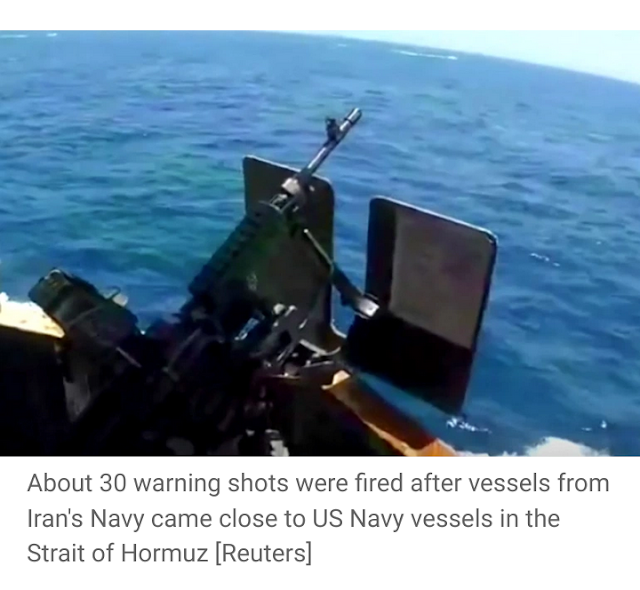 Tehran rejects Pentagon warning shots fired after Iranian boats came close to US military vessels
