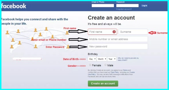 create facebook account free