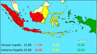 Husos horarios de Indonesia.