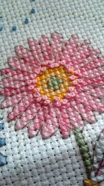 Let It Bee - Counted Cross Stitch Flower