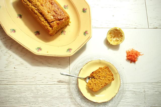 Cake Avoine/ Carotte/ Citron sans protéine de lait de vache