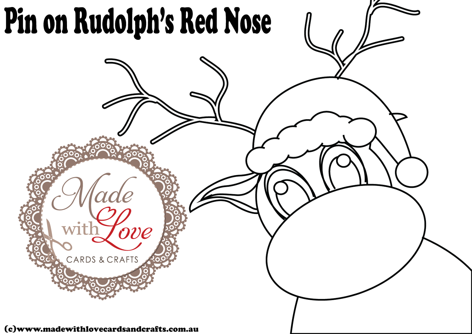 rudolph the red nosed reindeer template - rudolph nose template search results calendar 2015