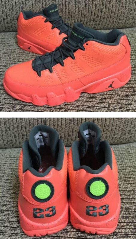 6ed7b86320fd41 Air Jordan 9 Low Red Black Retro Sneaker (Images). Here is a look via  ajsole com at this upcoming Air Jordan 9 Low Red Black Retro ...