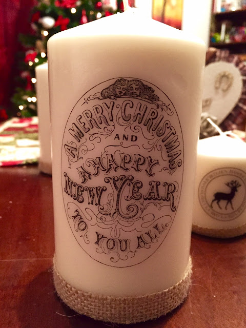 Merry Christmas Candle country