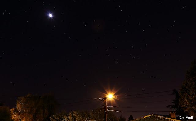 Orion et la Lune