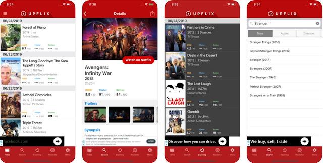 Upflix - Fica a par das novidades e dos lançamentos da Netflix