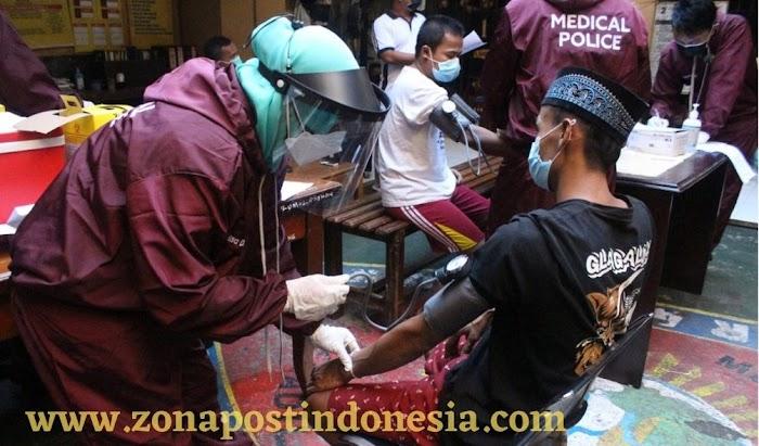 Sebanyak 145 Tahanan Polres Jember, Divaksinasi
