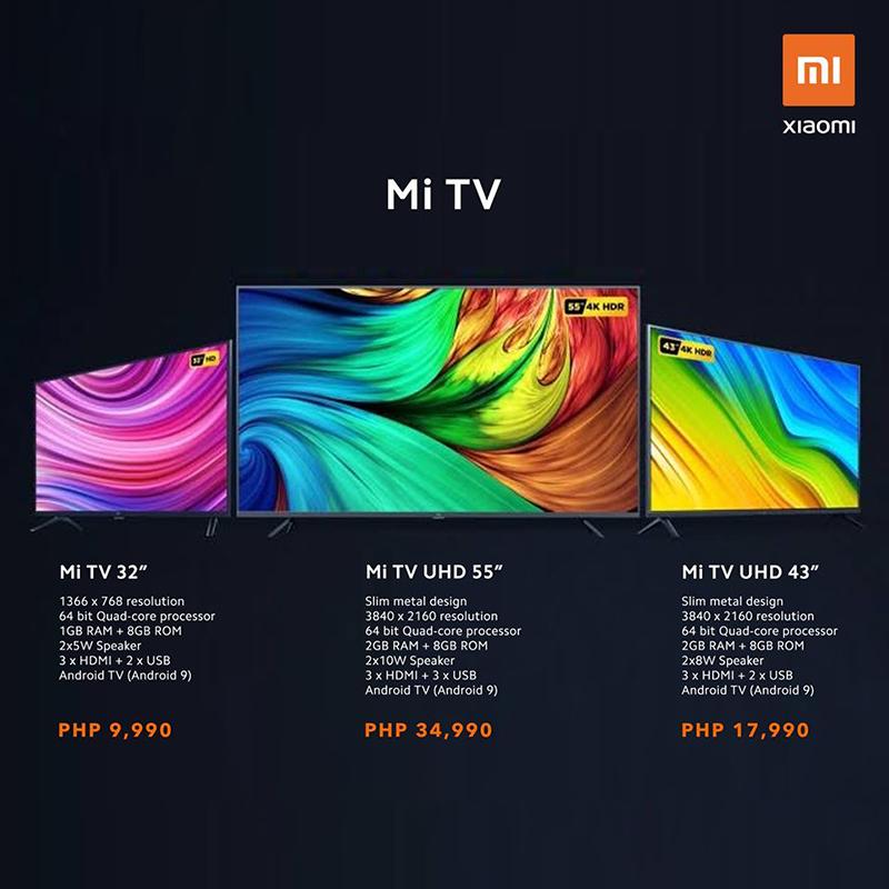 Xiaomi highlights line of Mi TV, UHD starts at PHP 18K