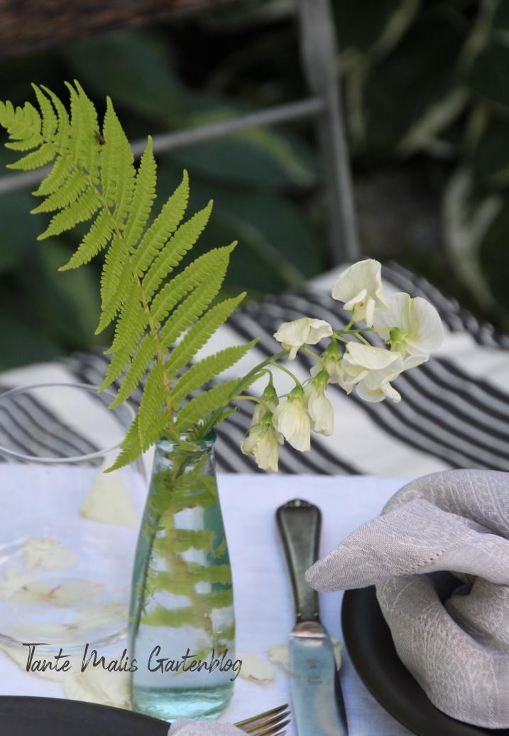 Tischdeko aus dem Garten