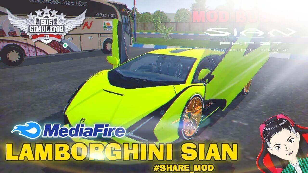 Mod Bussid Lamborghini Sian Supercar