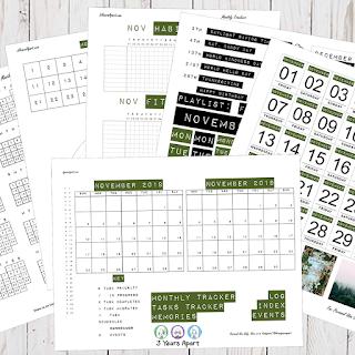 November 2019 Bullet Journal / Planner Free Printable Stickers!
