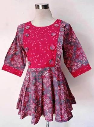 Koleksi Model Baju Batik Atasan Wanita Lengan Panjang Terbaru 2017