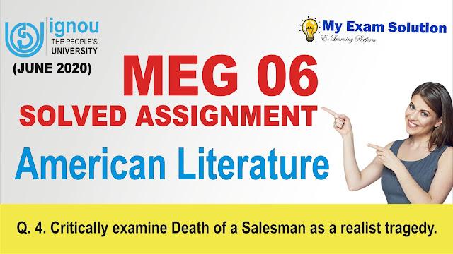 meg 06, american literature ignou assignment