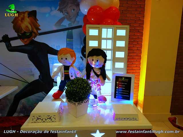 Ornamentação de festa Miraculous - tema Ladybug - Cat Noir - Aniversário