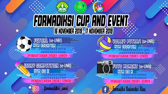 FORMADIKSI UNIVERSITAS RIAU CUP & EVENT 2019