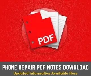 mobile phone repair and maintenance pdf