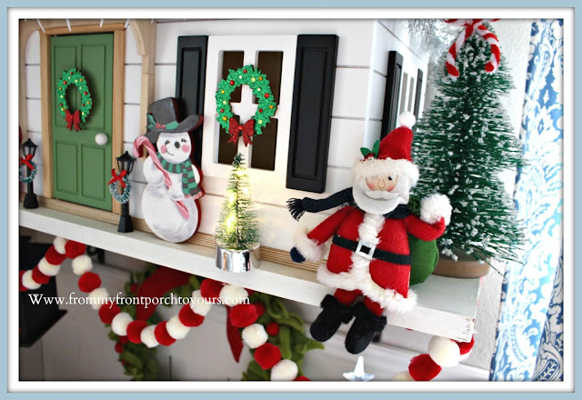 Christmas- Farmhouse- Cottage- Breakfast- Nook-Vintage-Christmas-Santa-Ornament-Hearth & Hand Doll House- From My Front Porch To Yours