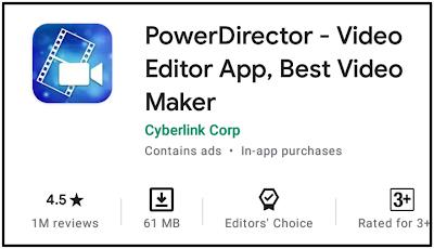 PowerDirector - ৫টি সেরা ভিডিও এডিটিং অ্যাপ