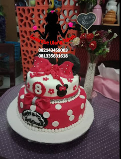 Kue Tart Ulang Tahun Tema Minnie Mouse